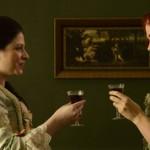Abigail Adams shares a drink with Katrina on Sleepy Hollow.