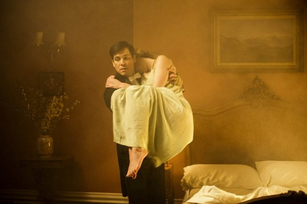Thomas Saves Edith from fire on Downton Abbey