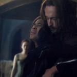 Ichabod holds Abbie on Sleepy Hollow