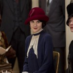 Lady Mary and Lady Rosamund on Downton Abbey