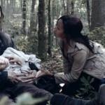 Ichabod (Tom Mison) and Abbie (Nicole Beharie)n tend to a sick boy on Sleepy Hollow