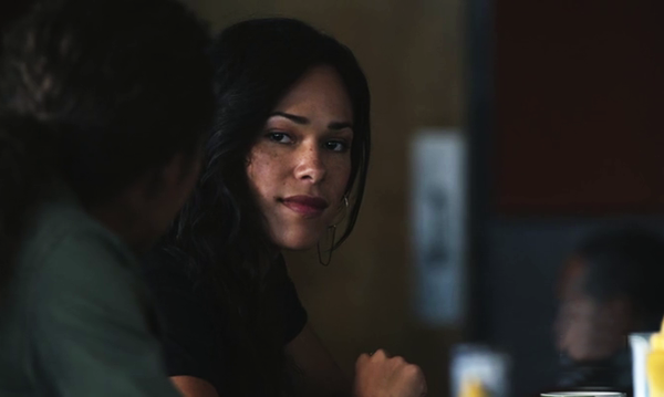 Jessica Camacho as (Sophie Foster) in a diner on Sleepy Hollow
