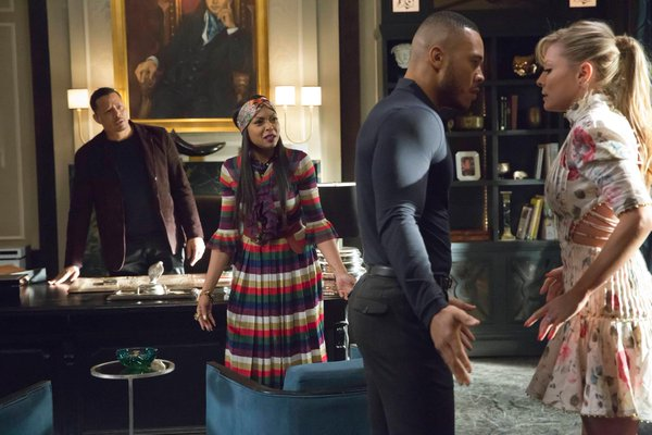 Lucious, Cookie and Andre try to calm down Rhonda on Empire