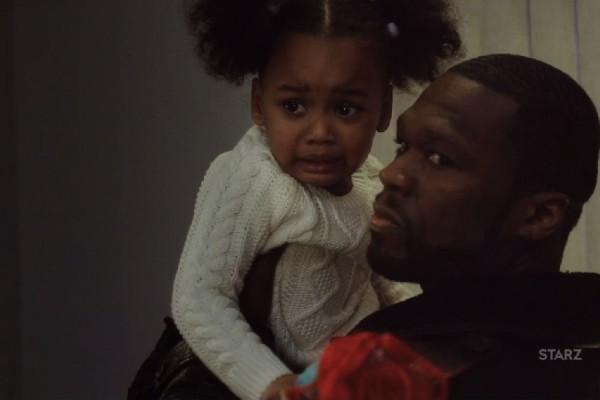 Kanan hold's Dre's little girl on Power
